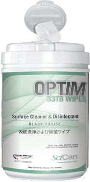 OPTIM 33TB: One-Step Cleaner & Intermediate Disinfectant. One-Minute TB Contact Time.